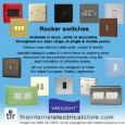 Varilight 1 Gang 1 or 2 Way 10A Rocker Light Switch Screwless Polished Brass Dec Switch XDV1S